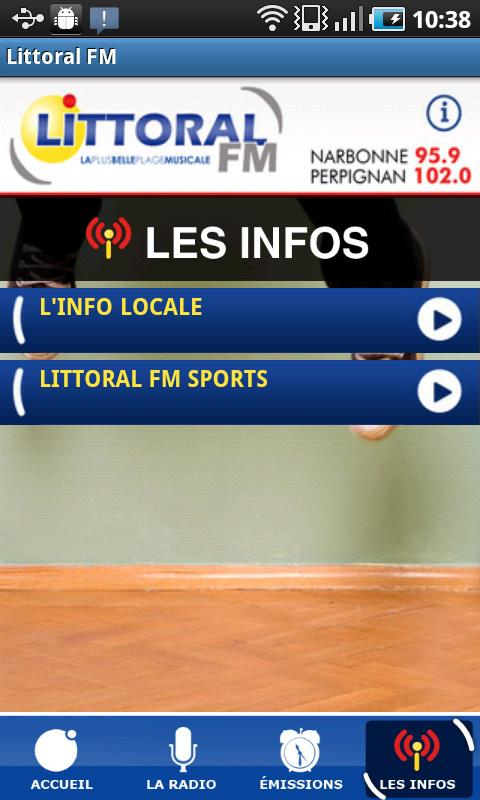 Littoral FM - screenshot