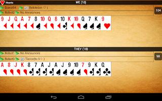 Screenshot of Belot online (Bridge-Belote)