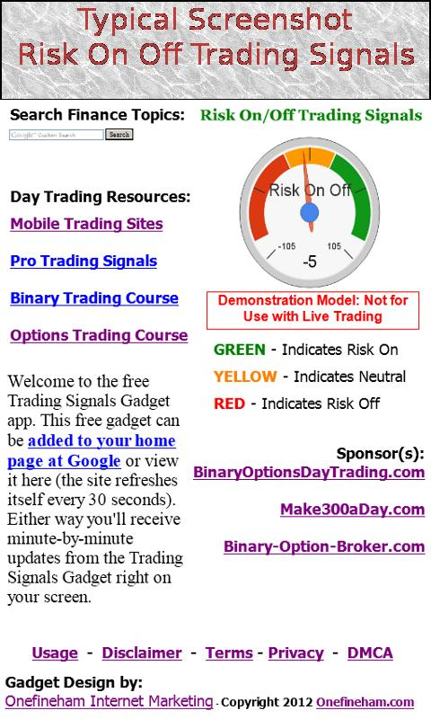Market makers trading signals