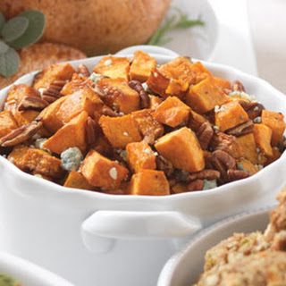 Sweet Potatoes with Blue Cheese & Pecans