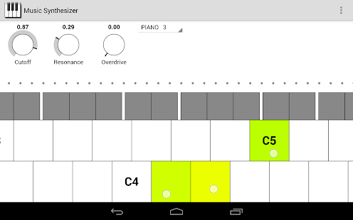 Music Synthesizer for Android- screenshot thumbnail