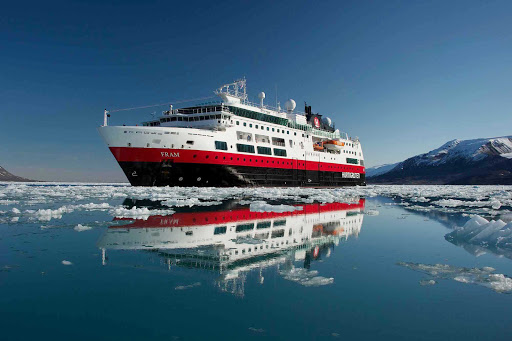 Hurtigruten-Fram-in-Svalbard-Islands - Discover the Monacobreen glacier as you travel the Svalbard Islands on board Hurtigruten's expedition ship the Fram.