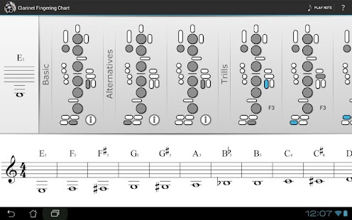 Clarinet Fingering Chart - Android Apps On Google Play