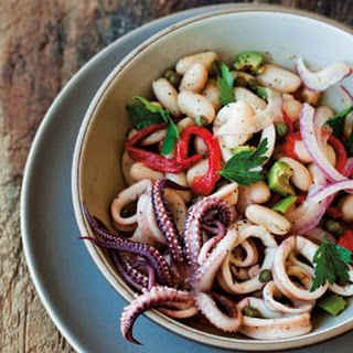 Calamari and White Bean Salad.
