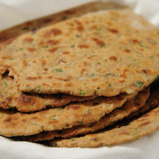 Missi Roti with Fresh Cilantro.