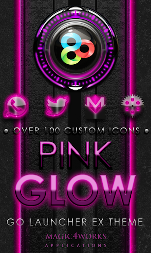 GO Launcher Theme Pink Glow