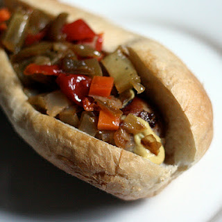 Italian Sausage with Caramelized Onions, Mustard, and Giardineria