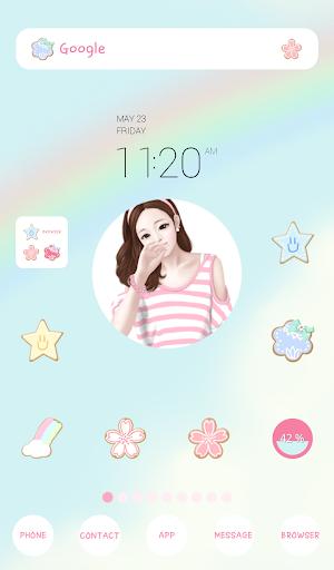 lovely girl sunny day dodol