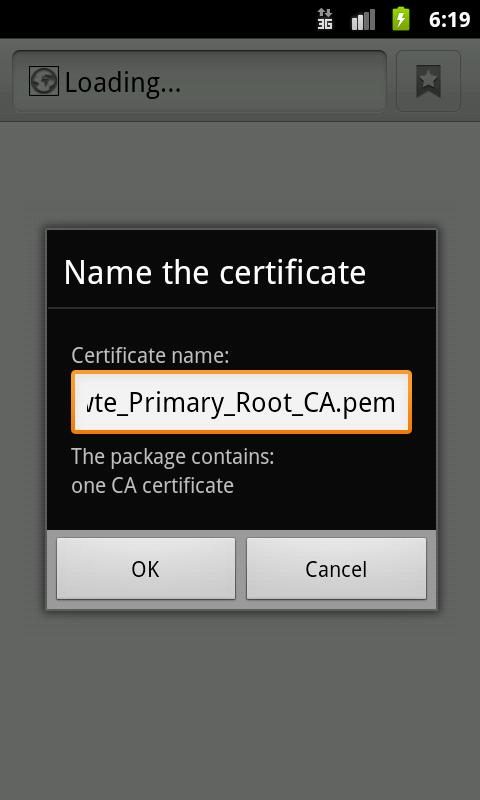 Certificate Installer- screenshot