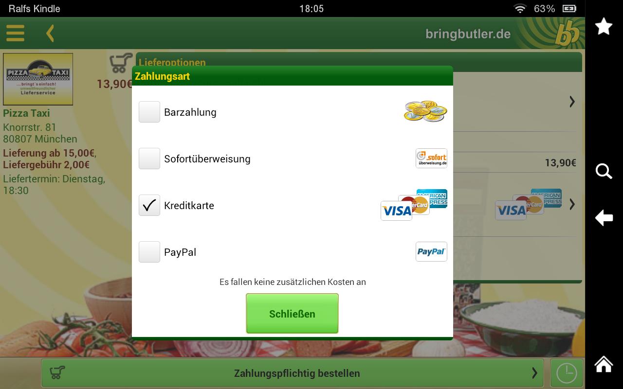 Bringbutler - Pizza, Pasta, .. - screenshot
