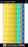 Screenshot of Ramadan Timetable