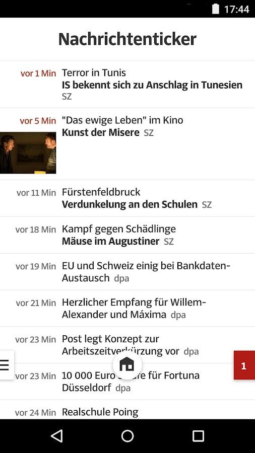 SZ.de - Nachrichten - screenshot