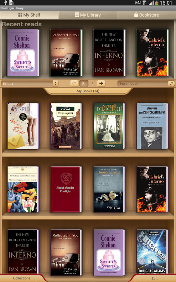 eReader Prestigio Book reader - screenshot