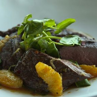 Ostrich Fillet with Ginger & Orange Sauce