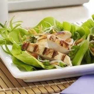 Asian Lettuce Wraps with Mustard Vinaigrette.