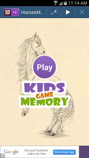 Horses Memory Game For Kids