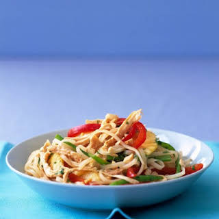 Asian Noodles with Chicken and Pineapple.