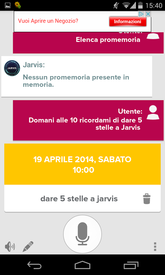Jarvis - Assistente Vocale- screenshot