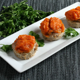 Mini Turkey Meatloaf with Sweet Potatoes.