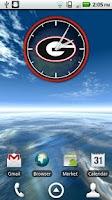 Screenshot of Georgia Bulldogs Clock Widget