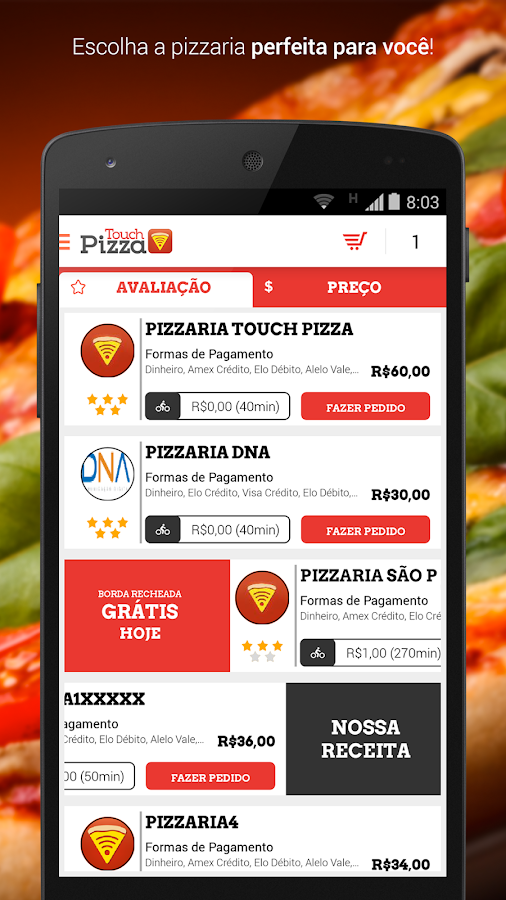 Touch Pizza - Pizza Delivery- screenshot