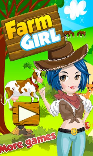 ファーマーの女の子がドレスアップゲーム