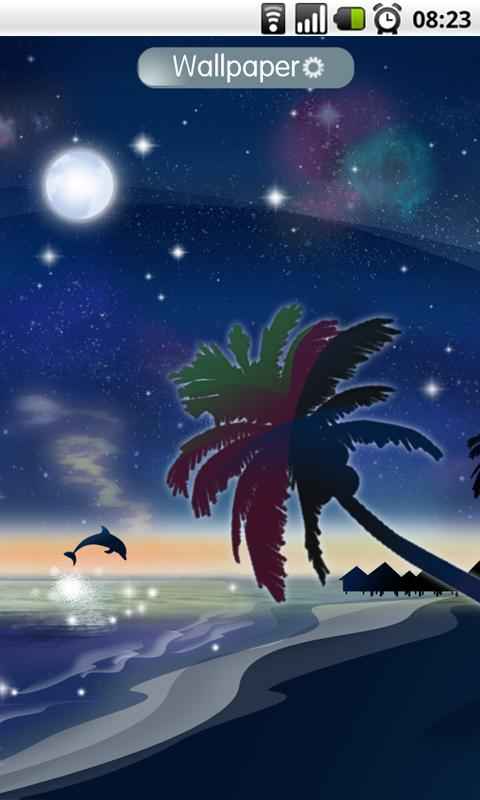 Galaxy Beach Wallpaper FREE- screenshot