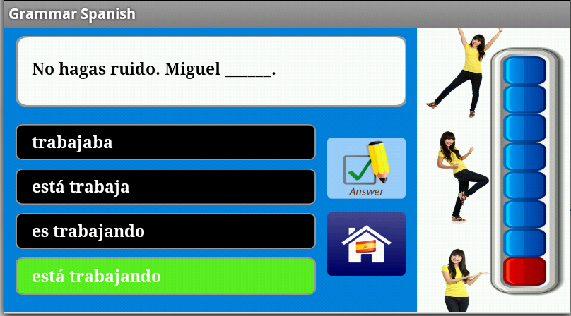 Spanish Grammar Free - screenshot