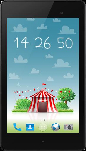 玩個人化App|新星一天晚上时钟壁纸免費|APP試玩