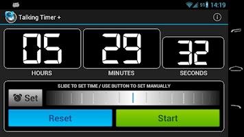Screenshot of Talking Timer +