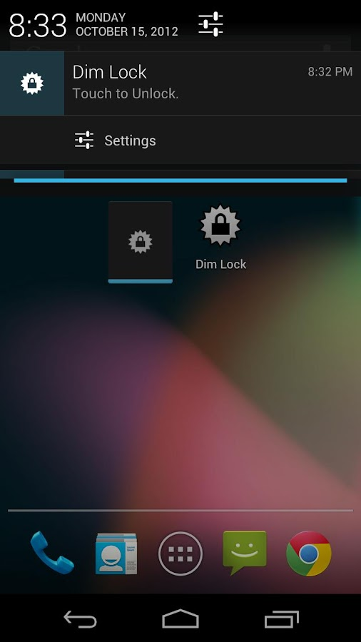 Dim Lock - screenshot