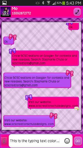 GO SMS - Girly Skulls 8
