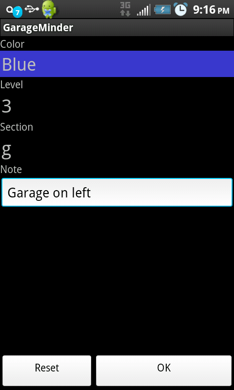 Garage Minder - screenshot