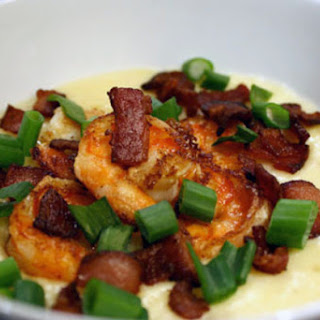 Shrimp and Grits with Bacon.