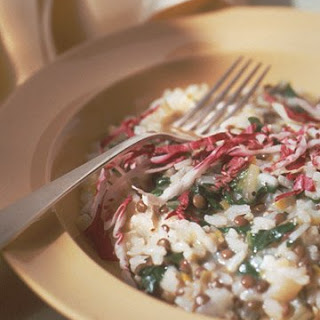 French Lentil and Swiss Chard Risotto.