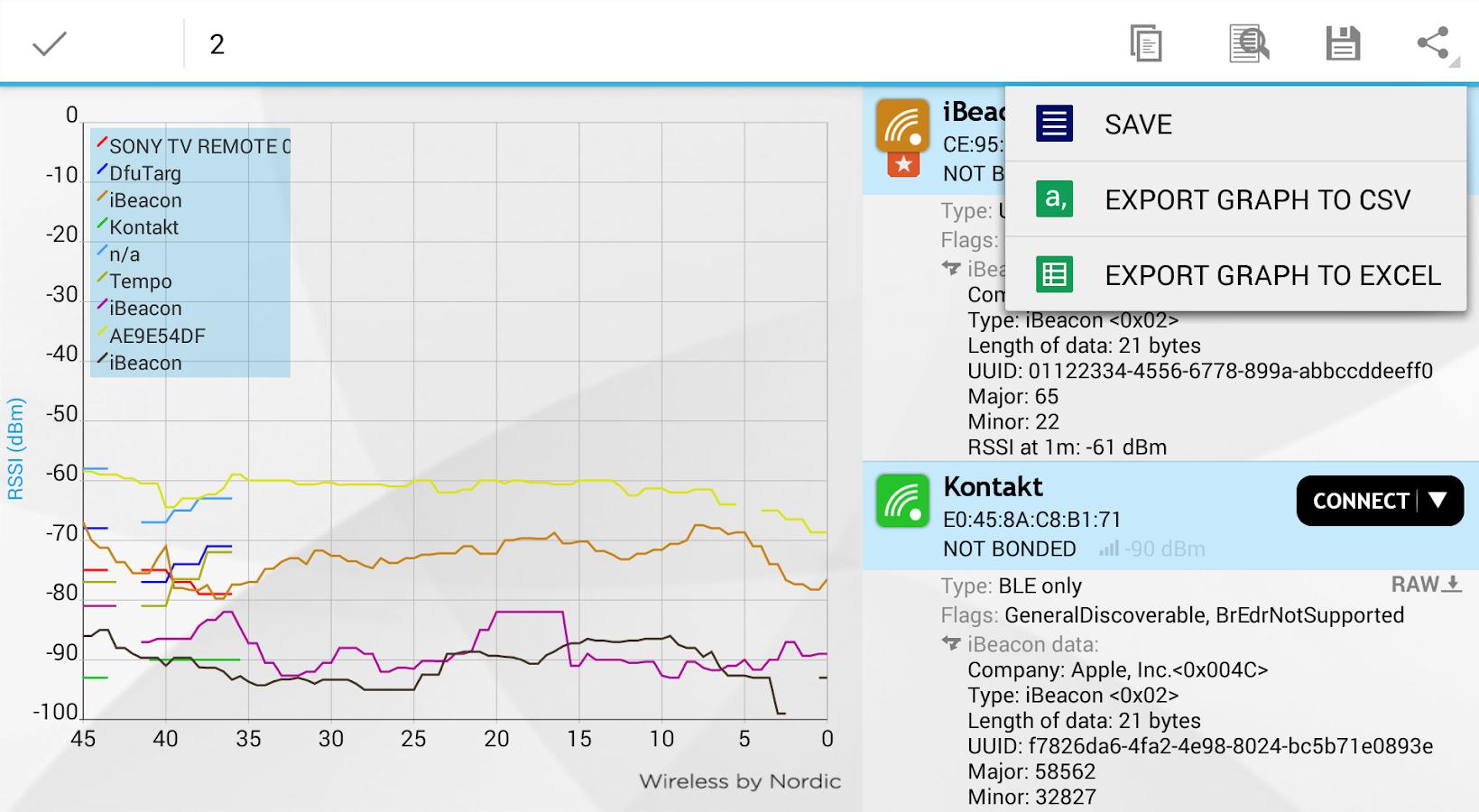nRF Master Control Panel (BLE) - screenshot