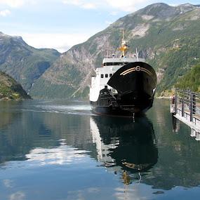 GEIRANGERFJORD NORWAY by Riccardo Schiavo - Transportation Boats ( , water, device, transportation )