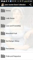 Screenshot of Jane Austen Book Collection