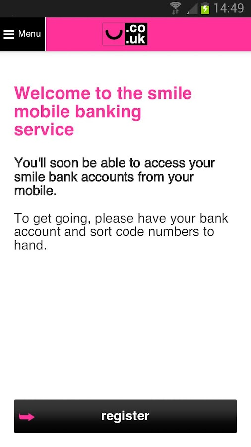 smile - the internet bank - screenshot