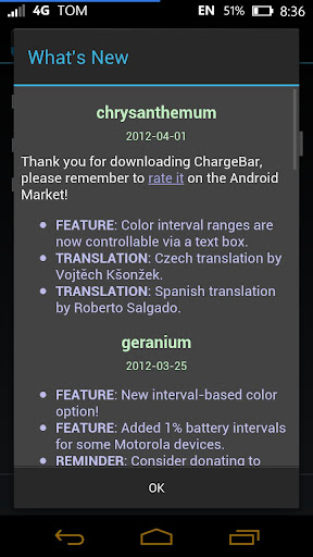 ChargeBar MIUI Battery Bar version chrysanthemum