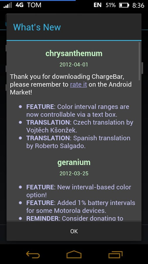 ChargeBar - MIUI Battery Bar - screenshot
