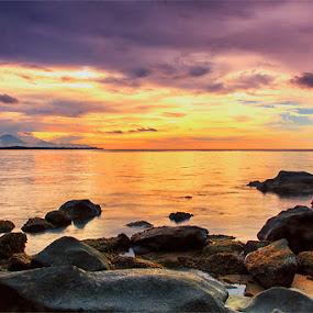 sunset at medane beach by IDewa ZesmaerthaPrabawatma - Landscapes Sunsets & Sunrises