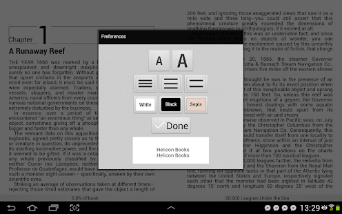 Helicon Books EPUB3 reader - screenshot thumbnail
