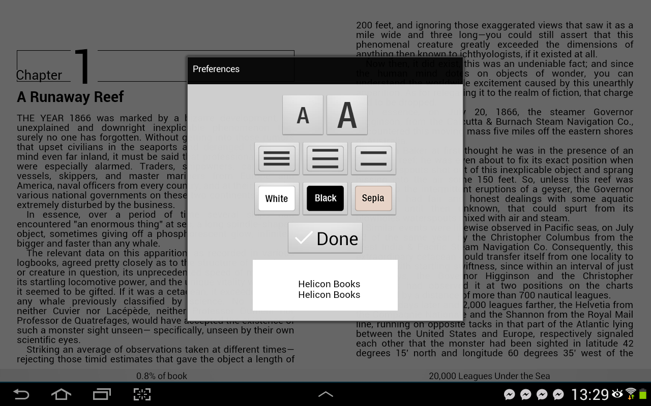 Helicon Books EPUB3 reader- screenshot