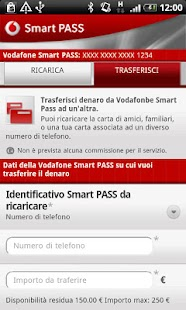 Vodafone Smart PASS - screenshot thumbnail