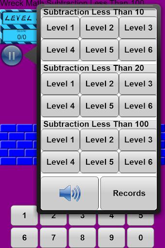 Wreck Math: Subtraction