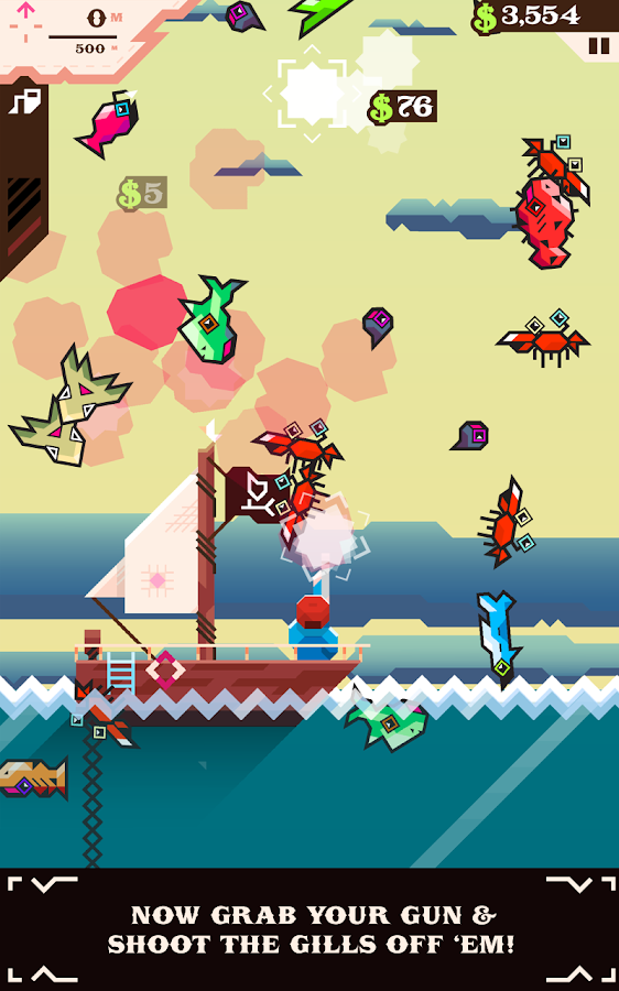Ridiculous Fishing - screenshot