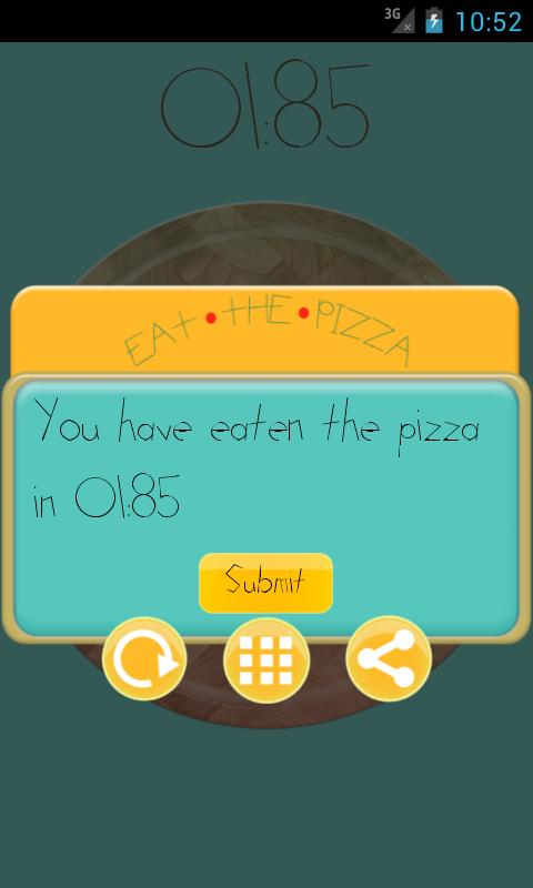 Eat the pizza - screenshot