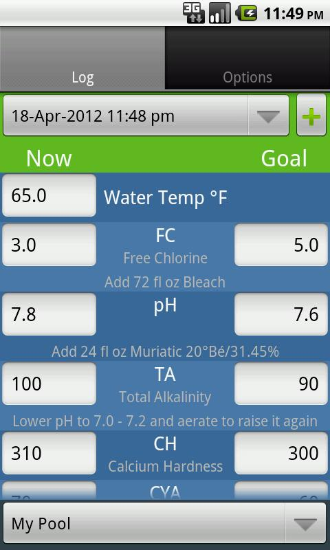 Pool pal android apps on google play - Chlorine calculator for swimming pools ...