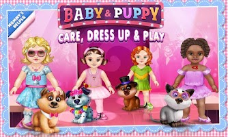 Screenshot of Baby & Puppy - Care & Dress Up